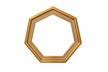 Golden heptagon (7 sides) picture frame