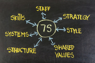 7S model for organizational culture, analysis and development