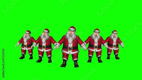 Dancing Santas Green Screen