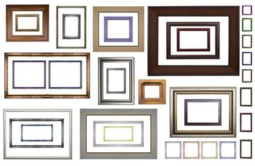 Classic wooden frames