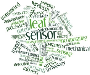 Word cloud for Leaf sensor