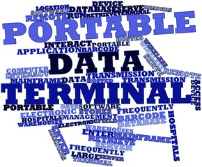 Word cloud for Portable data terminal