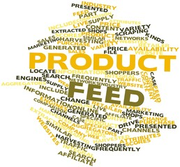 Word cloud for Product feed