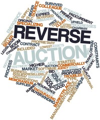 Word cloud for Reverse auction