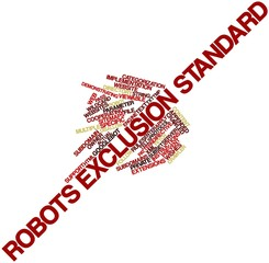 Word cloud for Robots exclusion standard