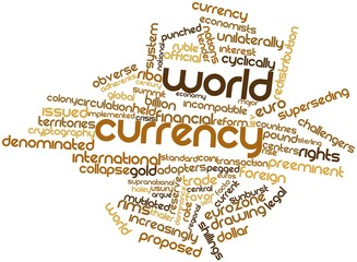 Word cloud for World currency