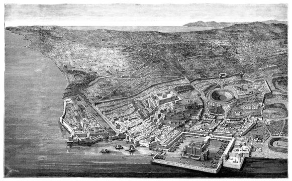 Antiquity - View : Utica - Utique - ca. 46 B.C.