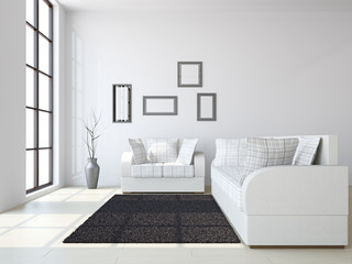 Livingroom with sofas and a vase