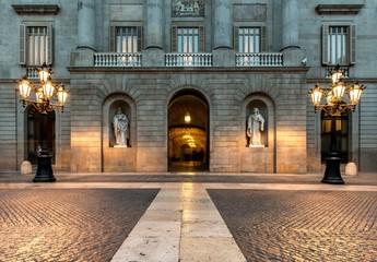 Building on Plaza de la Constitucion, Barcelona Fotomurales