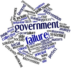 Word cloud for Government failure