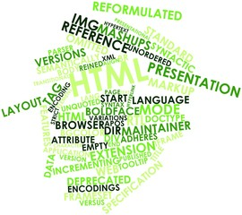 Word cloud for HTML