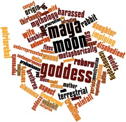 Word cloud for Maya moon goddess
