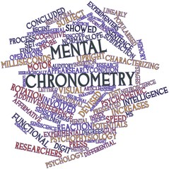 Word cloud for Mental chronometry