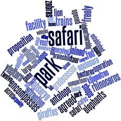 Word cloud for Safari park
