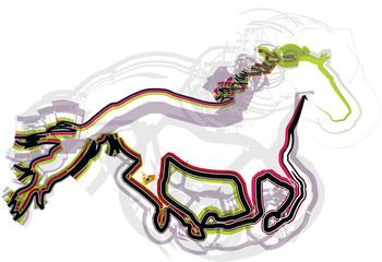 Papier Peint - abstract horse illustration