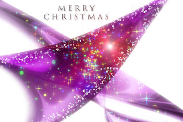 fantastic christmas wave design with snowflakes and stars