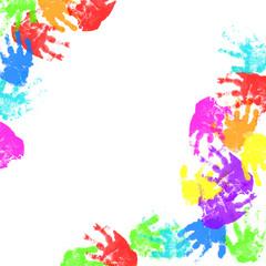 child hand prints