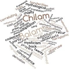 Word cloud for Chilam Balam