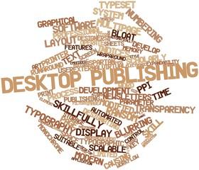 Word cloud for Desktop publishing