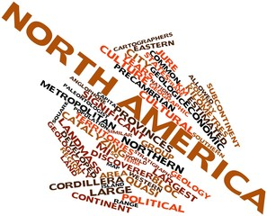 Word cloud for North America