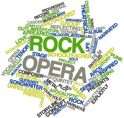 Word cloud for Rock opera