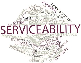 Word cloud for Serviceability