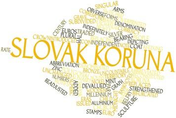 Word cloud for Slovak koruna
