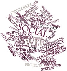 Word cloud for Social web