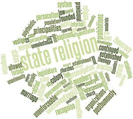 Word cloud for State religion