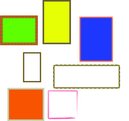 Frame is colourful