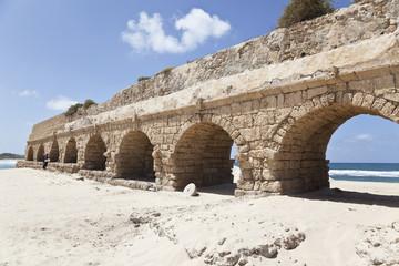 Aqueduct in ancient Caesarea, Israel
