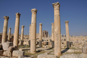 Ruins of Jerash, Roman city near Amman