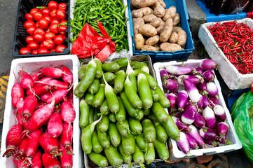 Outdoor market of vegetables