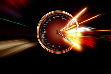 excessive speed on the speedometer