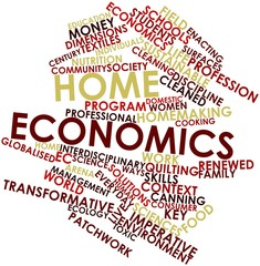 Word cloud for Home economics