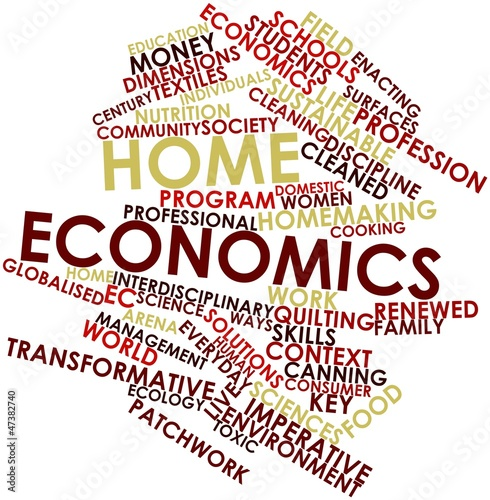 """Word cloud for Home economics"" Stock photo and royalty ..."