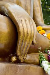 Hand of image buddha