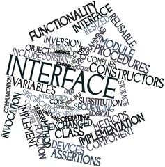 Word cloud for Interface