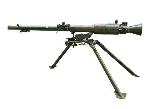 Modern bazooka gun. Clipping path included.