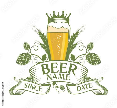 Beer label design template\