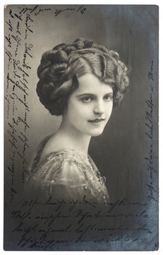 old sepia photo of young woman