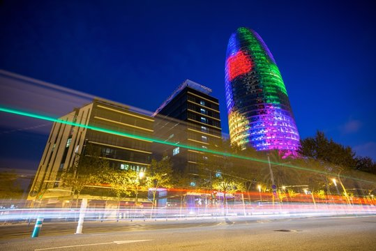 BARCELONA - NOVEMBER 24: Torre Agbar office building, Spain