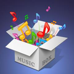 music box - white