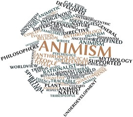 Word cloud for Animism