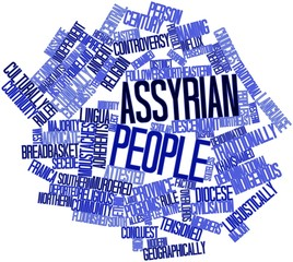 Word cloud for Assyrian people