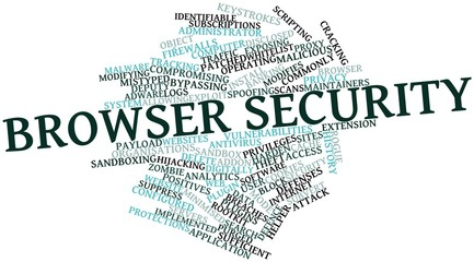 Word cloud for Browser security