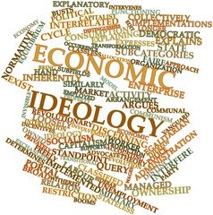Word cloud for Economic ideology