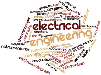 Word cloud for Electrical engineering