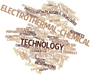 Word cloud for Electrothermal-chemical technology