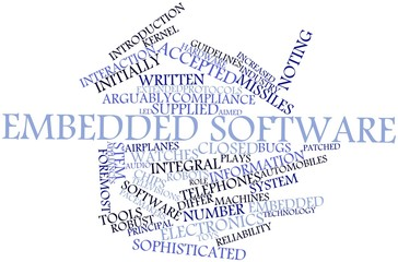 Word cloud for Embedded software